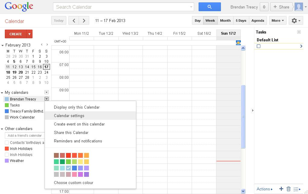 Google Calendar - Calendar Settings Menu Option.JPG